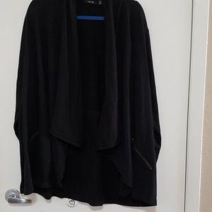 Draping sweater jacket